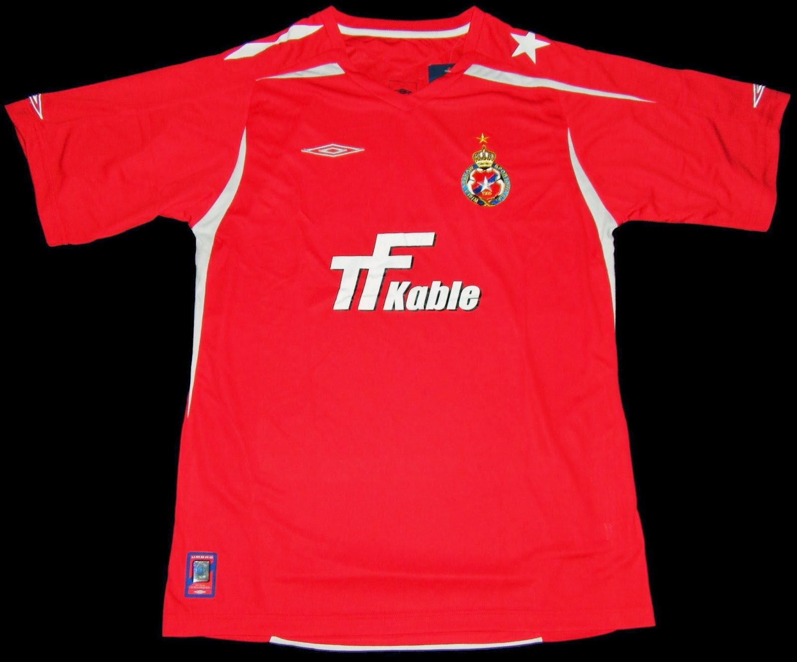 Football Shirts Collection in Japan: Wisla Krakow 08-09 HOME