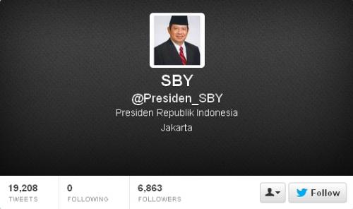 Twitter SBY Presiden_SBY