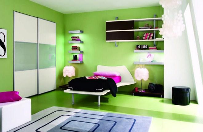 Салатовая комната фото