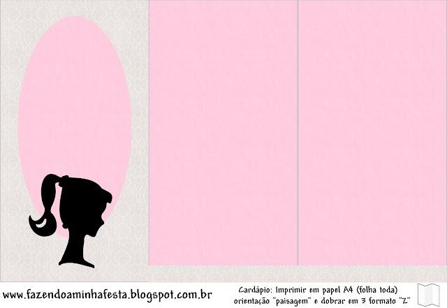 Tríptico de Barbie Silueta.