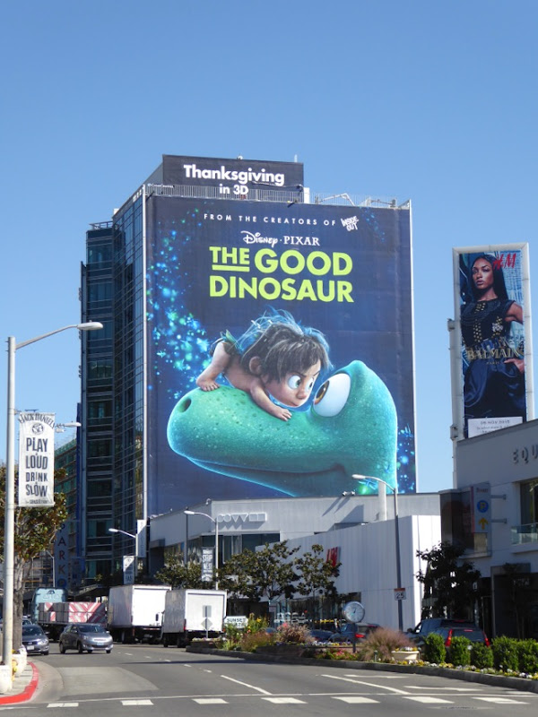 Giant Good Dinosaur movie billboard