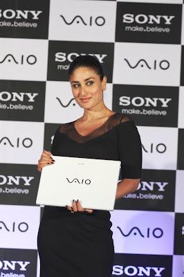 kareena kapoor at the launch of new sony vaio laptops.