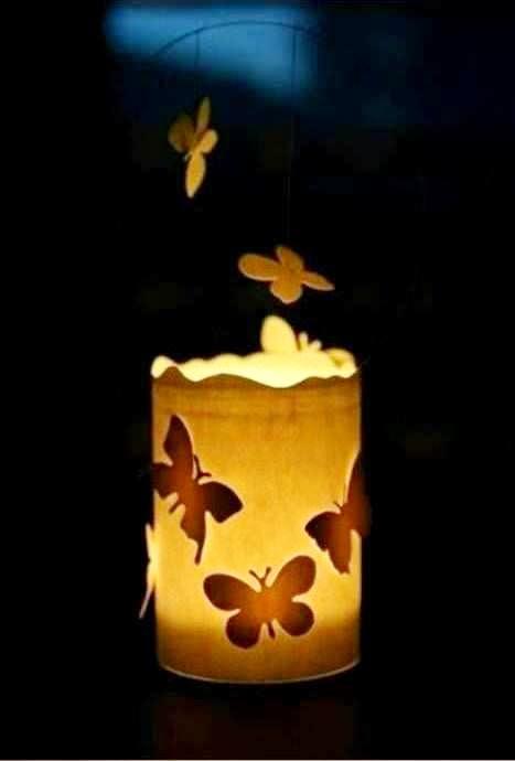Kerajinan Tangan Dari Barang Bekas, Hiasan Lilin Kupu-kupu 5