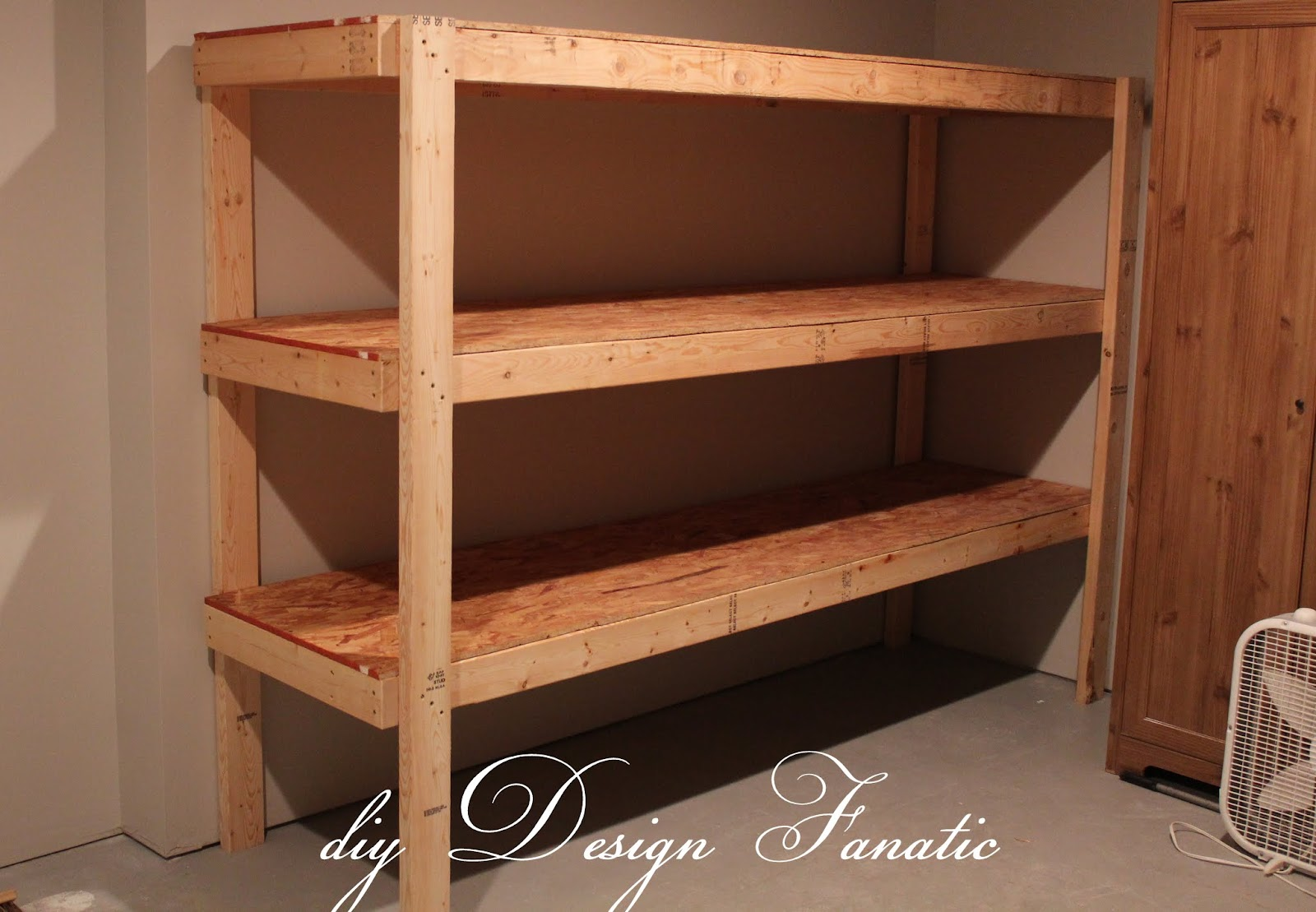 Storage Shelves Diy Basement Garage