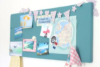 DIY Moodboard aus alter Styroporplatte - Upcycling für die Urlaubsvorfreude