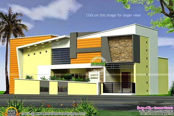 Tamilnadu style modern house