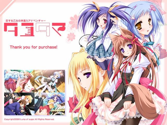 colorful visual novel anime