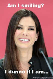 Sandra Bullock botox meme The Heat press conference