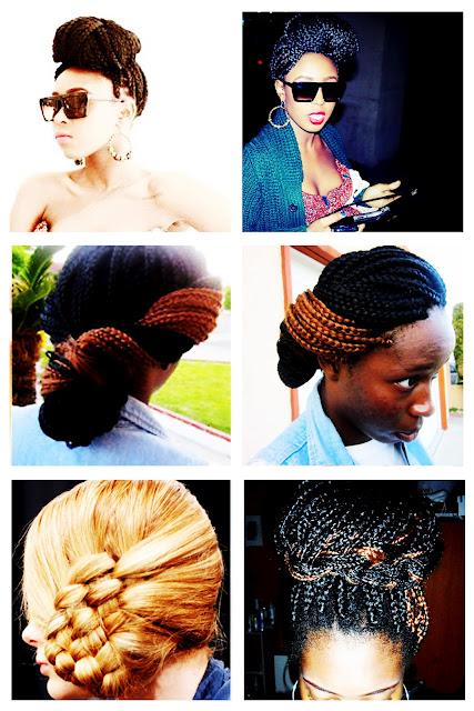 Different Ways to Style Box Braids