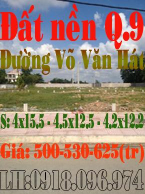 Đất nền quận 9 đường Võ Văn Hát