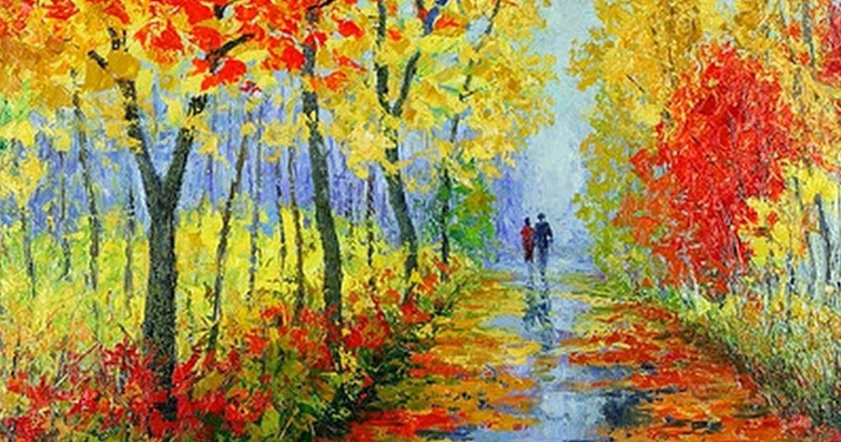 Cuadros modernos pinturas y dibujos paisajes con parejas - Cuadros de parejas ...