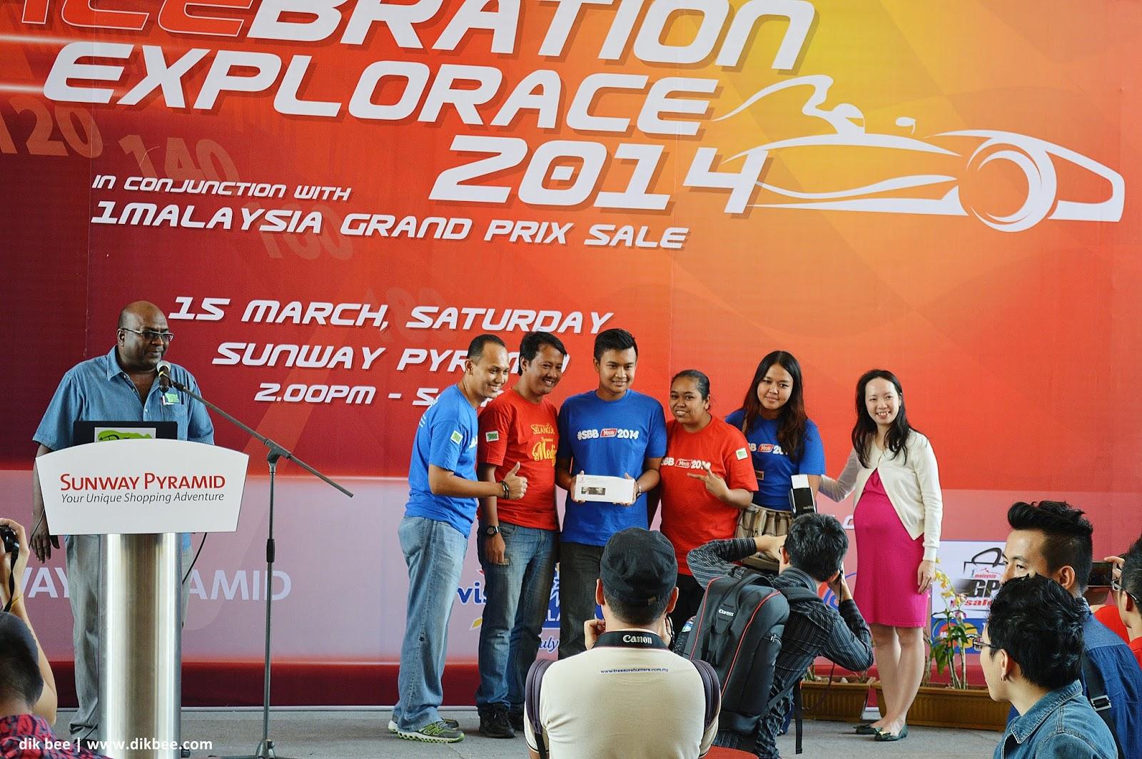 Salebration Explorace 2014 | Meriah Di Sunway Pyramid