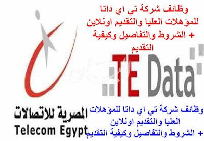 وظائف شركة تي اي داتا  التقديم في وظائف شركة تي اي داتا  وظائف المصرية للاتصالات  TE-Data Jobs 2015 الوظائف المتاحة  تي اي داتا