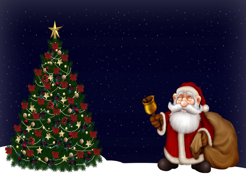 free merry christmas santa claus hd wallpapers for ipad mobile