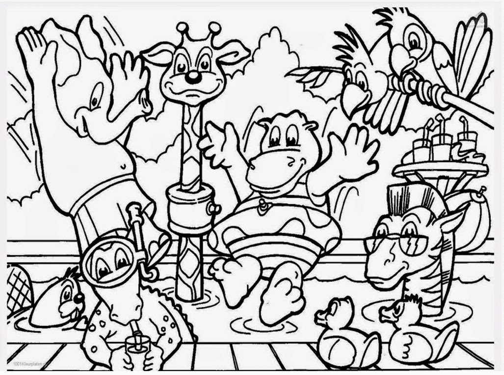 zoo animal coloring pages