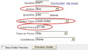 Trigger price in option trading