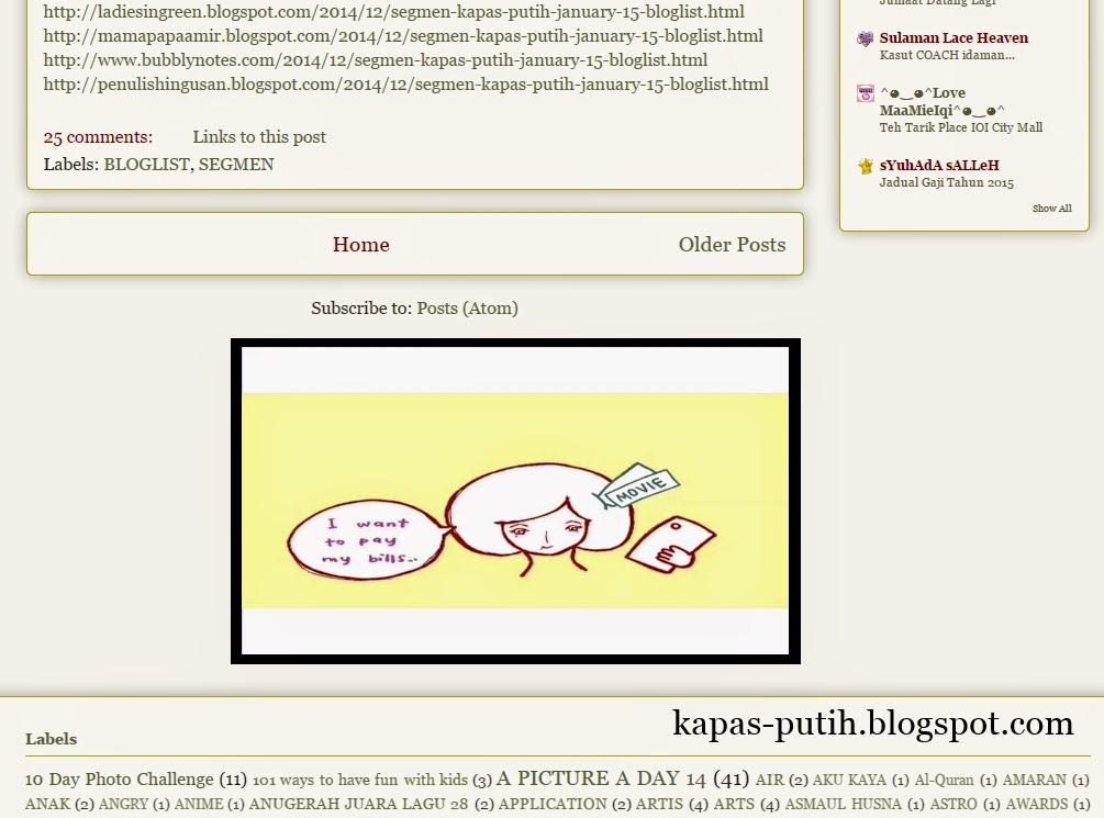Maybank Blogbuster Kapas Putih on the blog.. APPROVE!!