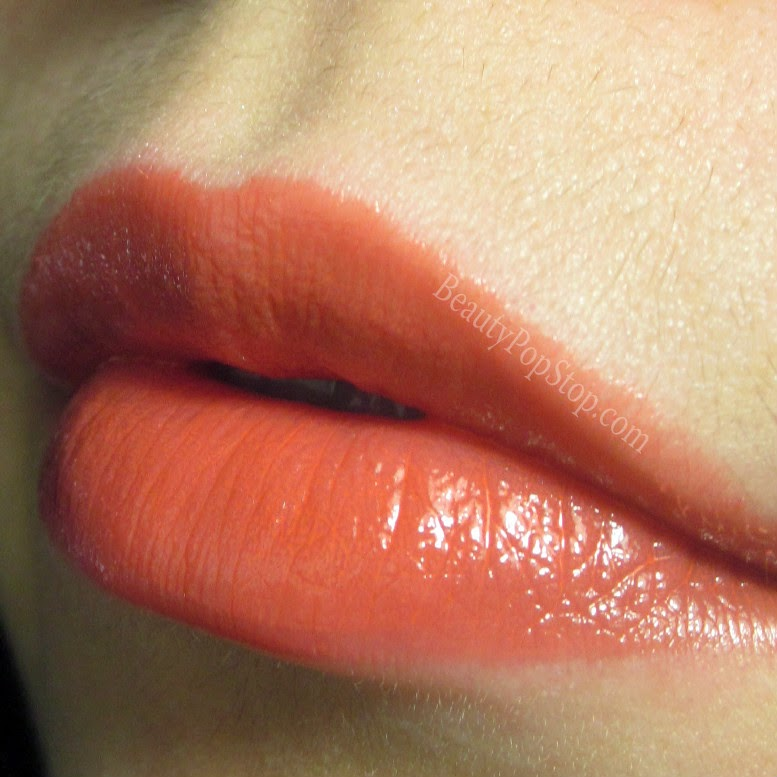 mac patentpolish lip pencil Teen Dream swatch and review