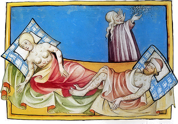 Illustration of the Black Death (1411)