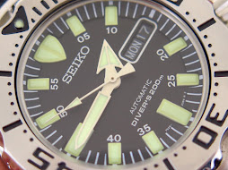 SEIKO DIVER BLACK MONSTER WITH RUBBER STRAP FIRST GEN - SEIKO SKX779 - AUTOMATIC 7S26-NEW OLD STOCK
