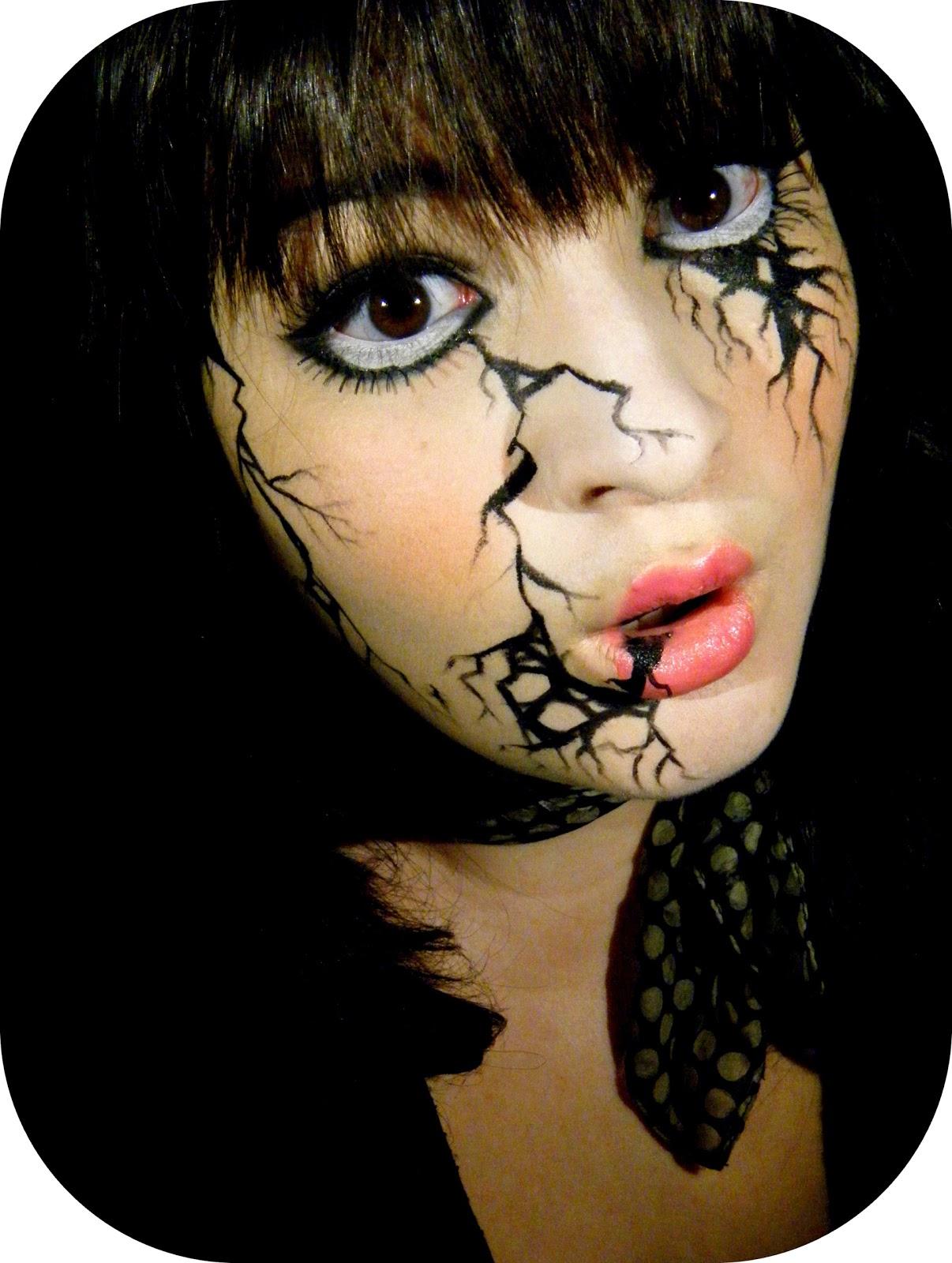 Mon petit coin beaut maquillage halloween 2 broken doll - Maquillage halloween qui fait peur ...