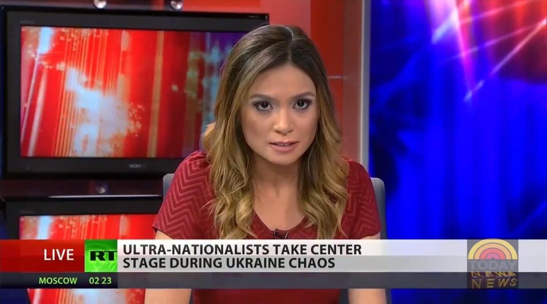 Ukrajna, Viktor Janukovics, Oroszország, Vlagyimir Putyin, RT America, Russia Today, média, Liz Wahl, krími invázió