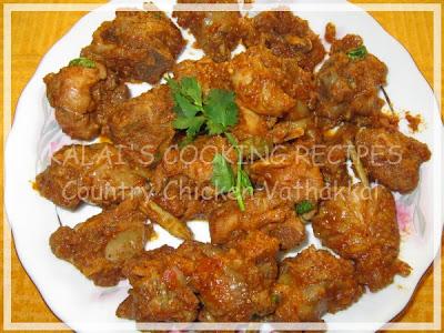 Country Chicken Dry Gravy / Nattu Kozhi Vathakkal