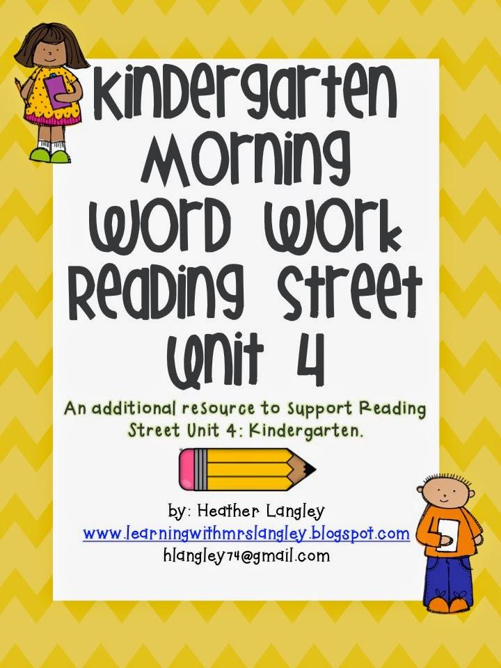 http://www.teacherspayteachers.com/Product/Kindergarten-Morning-Word-Work-Unit-4-1499278