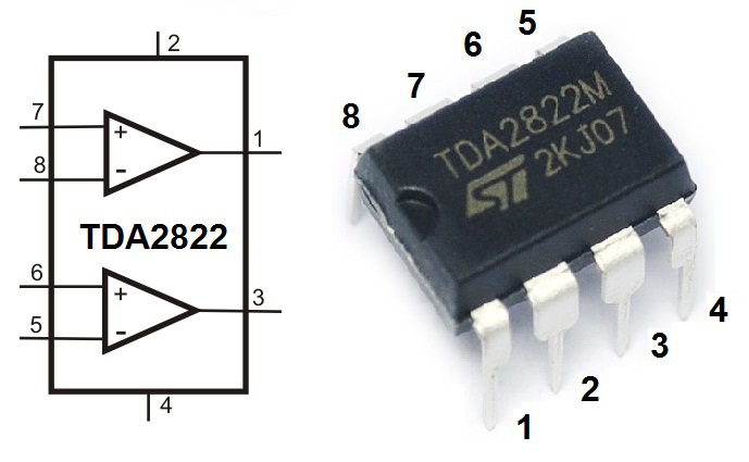01 merangkai ampli sederhana TDA2822.
