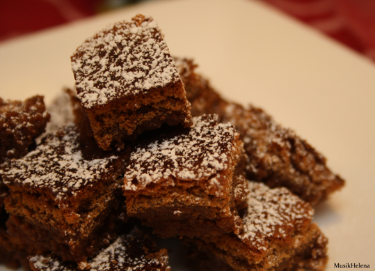 kladdiga brownies utan nötter