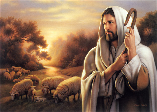 Dios con corderos