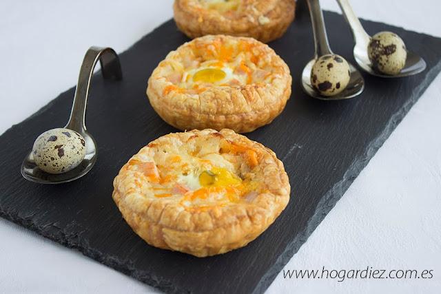 Tartaletas con atún y huevos