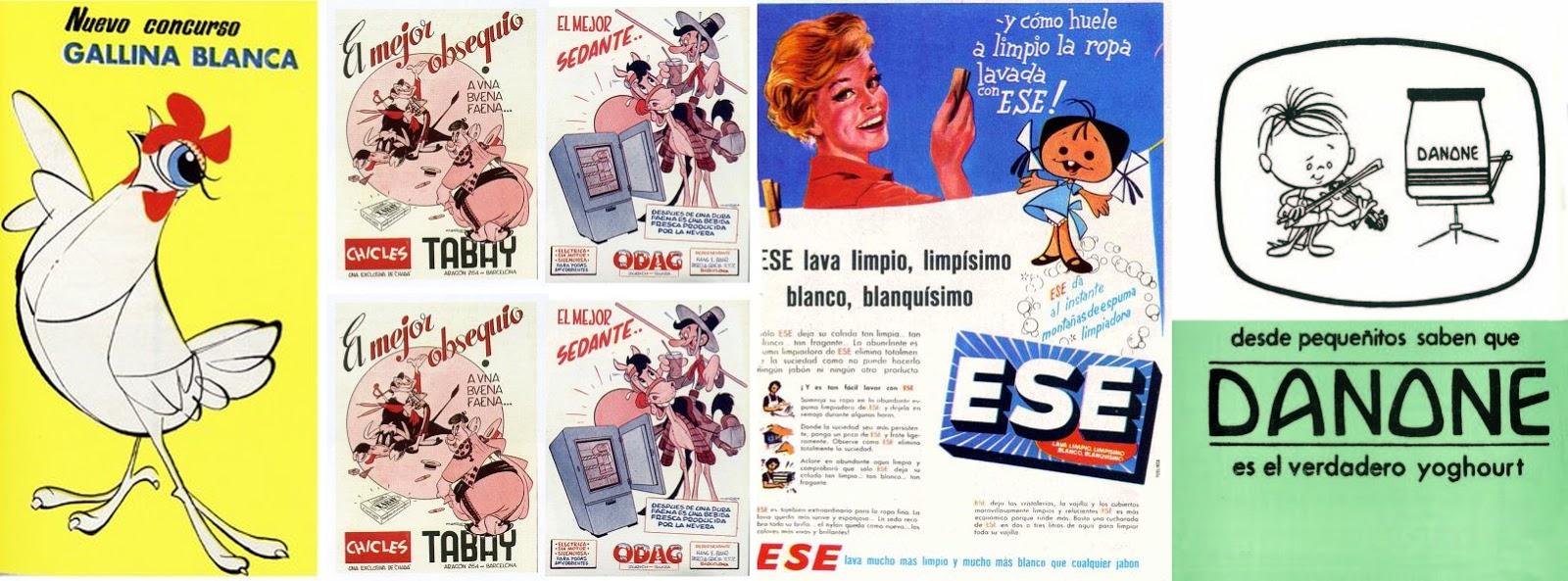 Hermanos Moro estudio vintage retro publicidad spanish españa española familia telerín danone philips calabaza ruperta gallina blanca