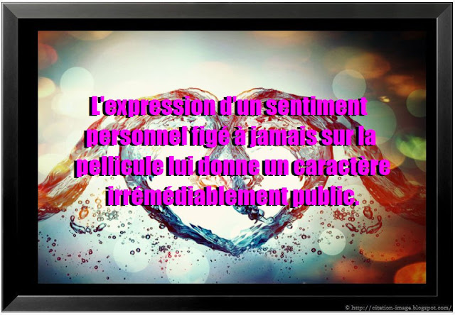 Citation sur sentiment