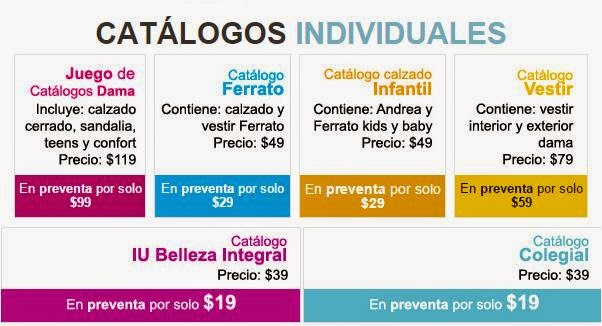 Catalogos Individuales Verano 2015