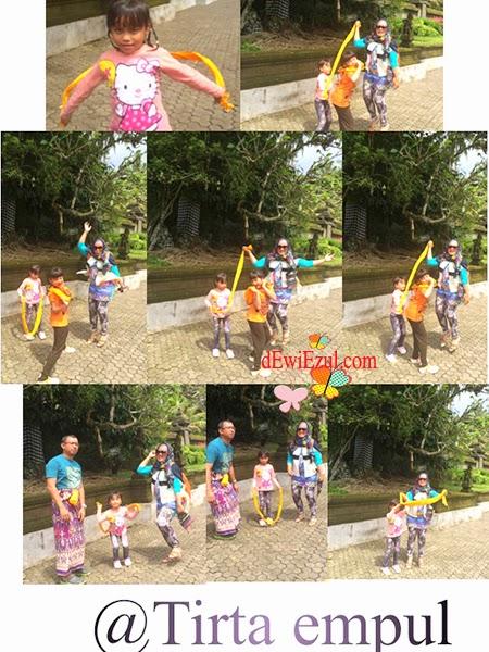 jalan jalan ke Tirta empul bersama anak