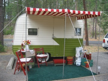 Girl Camping An Awning For Your Vintage Trailer
