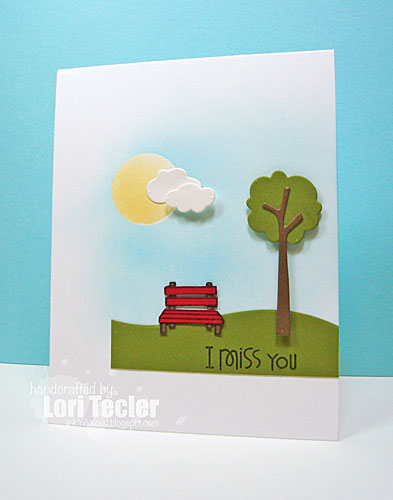 I Miss You card-designed by Lori Tecler/Inking Aloud-stamps and dies from Paper Smooches