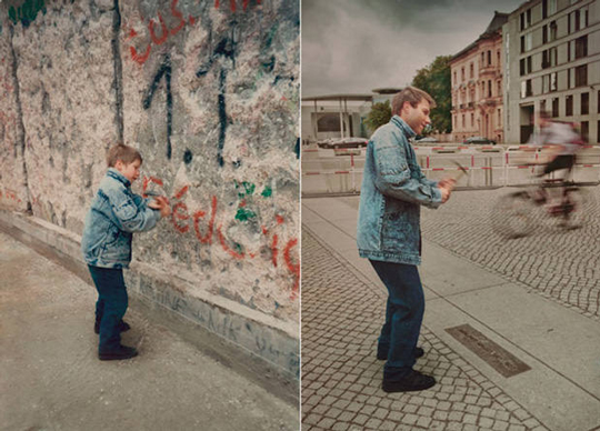 Portraits Mixing Past and Present