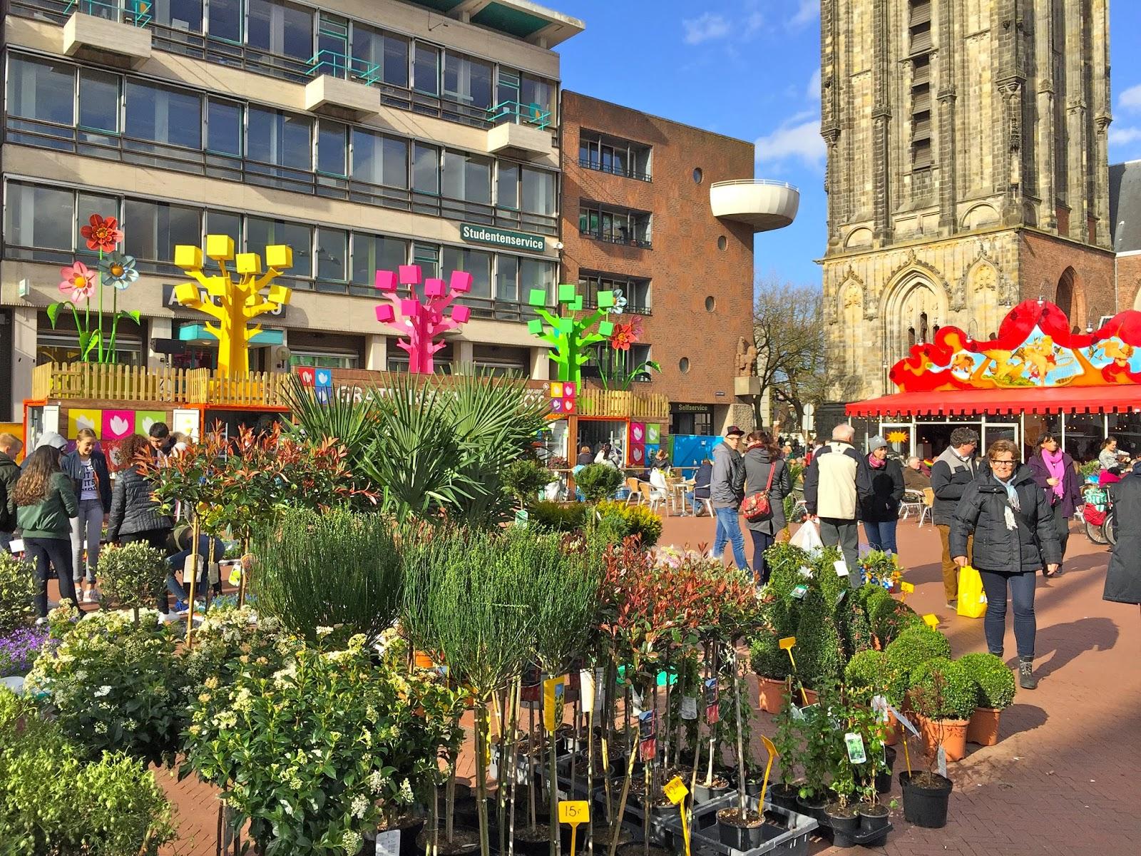 Flower depot in Grote Markt Groningen.