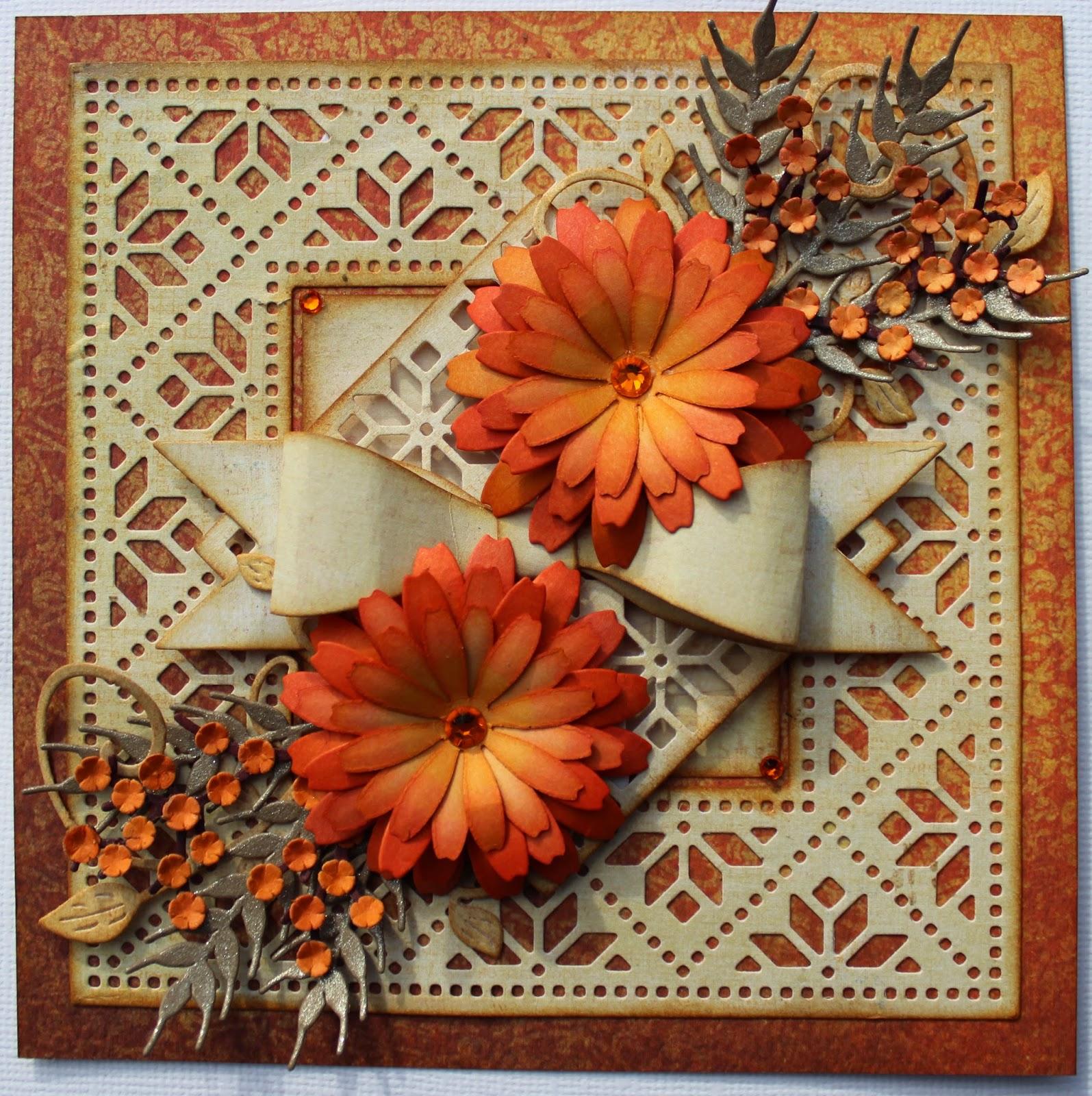Happy Thanksgiving Flower Card