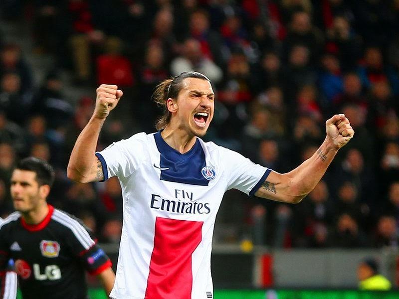 Zlatan Ibrahimovic celebración