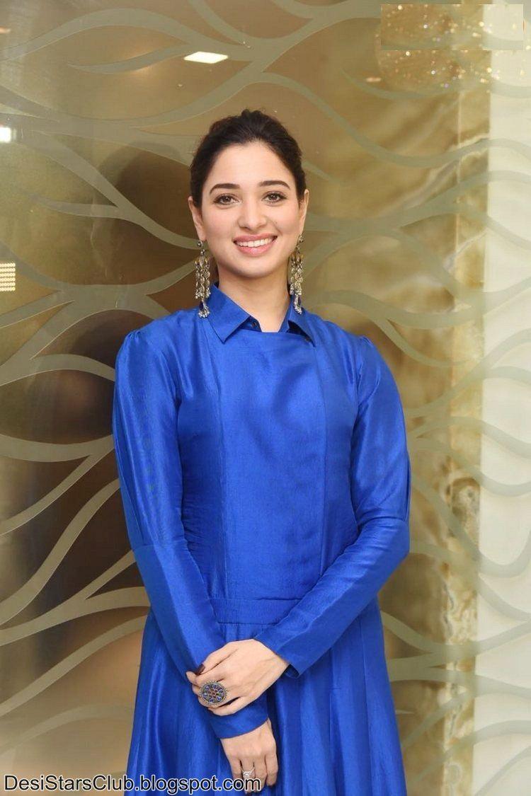 South Actress Tamanna Photos in Blue Dress