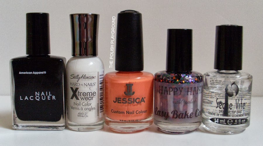 American Apparel, Sally Hansen, Jessica, Happy Hands, Seche Vite
