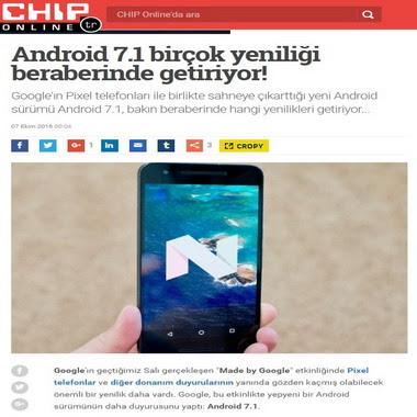 chip com tr - haber - android 7.1 birçok yeniliği beraberinde getiriyor