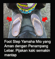 foot step depan Mio sporty