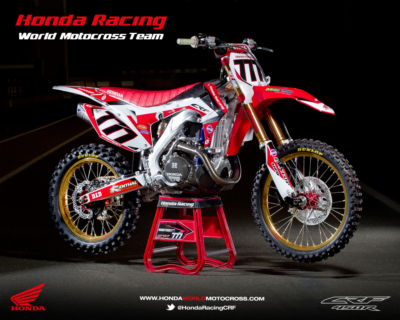 Racing Caf    Honda CRF 450R World Motocross Team 2013