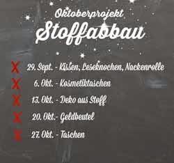 Oktober-Stoffabbau