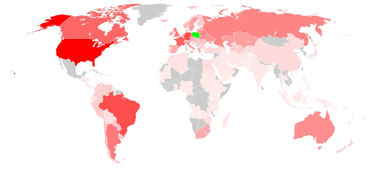 The Polish Diaspora: Famous Polish People Around the World - Map of Polish Emigration