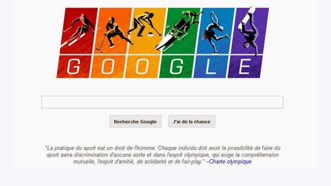 Google célèbre les JO avec le drapeau de la fierté homosexuelle